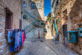 Street in akko a the arab part of the city of acre israel Royalty Free Stock Images