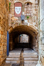 Street in akko a medieval the city of acre israel Royalty Free Stock Photos