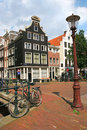 Street of Amsterdam. Royalty Free Stock Photo
