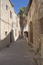 Street in ancient kyrenia old houses a girne Stock Image