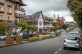 Street and architecture of Gramado city - Gramado, Rio Grande do Sul, Brazil