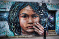 Street art in brick lane london transient uk Stock Photography