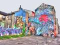 Street art in brighton england uk Royalty Free Stock Image