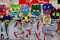 Street art naive art Royalty Free Stock Photo