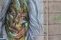 Street Art Portrait Royalty Free Stock Photo