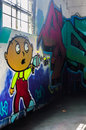 Street art of sacramento displaying stewie in a parking garage Royalty Free Stock Photography