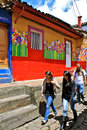 Street Art in Student Quarter, Bogota, Colombia Stock Photography