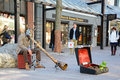 Street Artist at Burlington, Vermont, USA Royalty Free Stock Photo