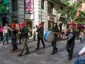 Street band in Santa Cruz Tenerife Royalty Free Stock Photo