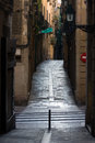 Street in barcelona ciutat vella Royalty Free Stock Photography