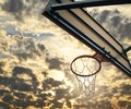 stock image of  Street basketball.Basketball Hoop close up.