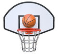 Street basketball kit with backboard hoop chain net and ball Royalty Free Stock Photography
