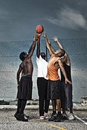 Street basketball team group portrait of a Royalty Free Stock Photos