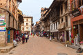 Street in bhaktapur nepal april th the streets of the medieval town of nepal on april th Stock Images