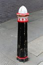 Street bollard a in city of london Royalty Free Stock Photography