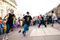 Street breakdancers in Warsaw Royalty Free Stock Images