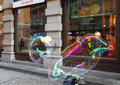 Street bubble art prague czech republic Royalty Free Stock Photo