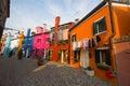 Street of Burano Stock Photos