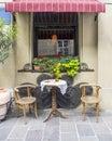 Street cafe in Krakow Royalty Free Stock Photo
