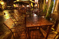 Street cafe in Santiago d Compostella, Spain Royalty Free Stock Photo