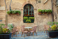 Street cafe in Siracusa Royalty Free Stock Photo