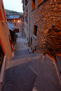 Street of canillo andorra view at nightfall Stock Photography
