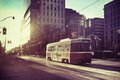 Street car in the city Stock Images