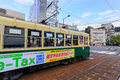 Street car in nagasaki japan november tram japan on november served by tram lines operated by nagasakic electric tramway provide Royalty Free Stock Images