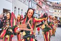stock image of  Beautiful and cheerful carnaval figure with bells. Street carnival in southern Germany - Black Forest