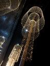 Street christmas illumination outdoor at night Stock Photos