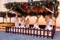 Street Christmas Nativity scene, Prague, Czech Republic Royalty Free Stock Photo
