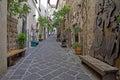 Street of city Orvieto, Italy, Toscana Royalty Free Stock Photo