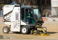 Street cleaner machine Royalty Free Stock Photo