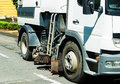 Street cleaner vehicle Royalty Free Stock Photo