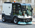 Street cleaner vehicle at work Royalty Free Stock Photo