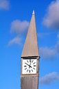 Street clock against a blue sky in the morning with white clouds concept photo of time vertical Stock Photography