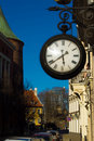 Street clock, evening Royalty Free Stock Images
