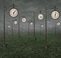 Street clocks background 1