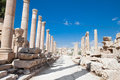 Street of Columns in Jerash Stock Images