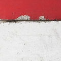 Street Concrete traffic barrier in red and white Royalty Free Stock Photo