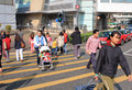 Street crossing in hong kong busy china Stock Images