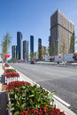 A street in the dalian city is beautiful and well organized this is road which leads to port Royalty Free Stock Image