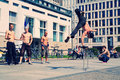 Street Dancers in Pariser Platz Stock Photos