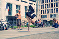 Street Dancers in Pariser Platz Royalty Free Stock Photo