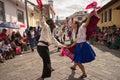 Street dancers performing in Ecuador