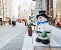 Street decorated by Christmas holidays Royalty Free Stock Image