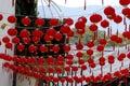 A street decorations - similar to small lanterns - of the historic city of Lijiang, Yunnan, China