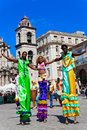 Street entertainers in Old Havana December 2 Stock Images
