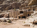 Street of Facades, Petra Jordan Royalty Free Stock Images