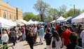 Street fair shoppers in the historic cooper young district at arts and crafts memphis tn Royalty Free Stock Image